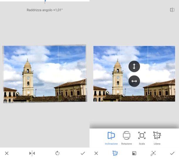 App per raddrizzare una foto