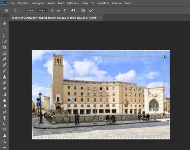 Alterazione prospettica Photoshop