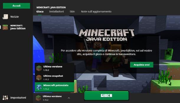 Come dedicare più RAM a Minecraft nuovo launcher