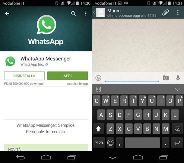 Screenshot di WahtsApp per Android