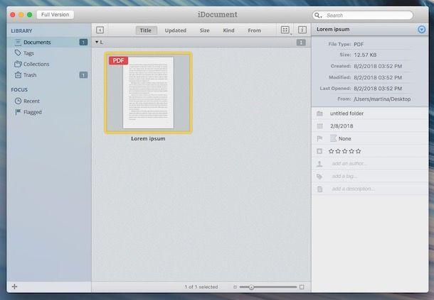 Programmi per archiviare documenti