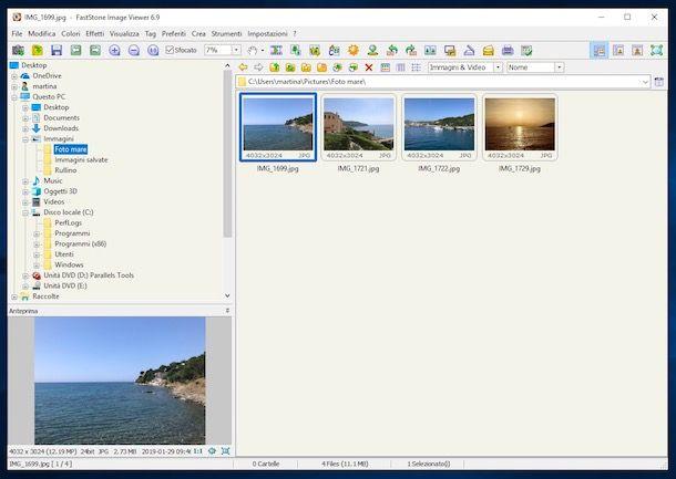 Programmi per vedere foto