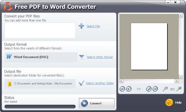 Programmi per trasformare PDF in Word