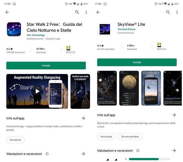App per astronomia