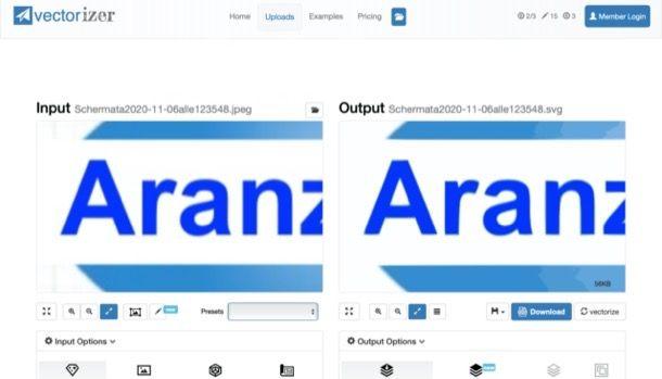 Vettorializzare una scritta online