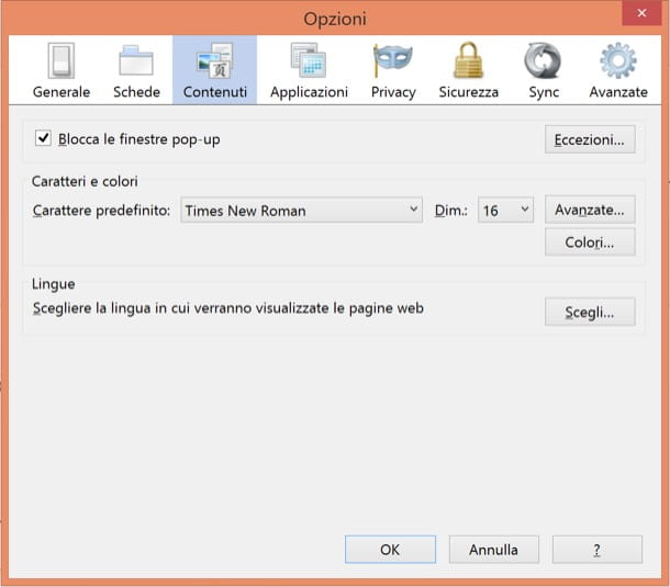 Bloccare popup firefox - Finestra popup html ...