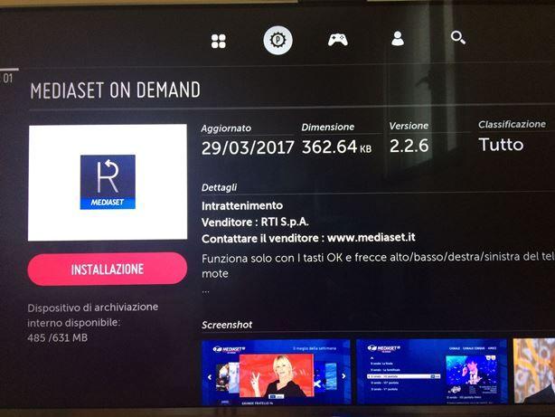 applicazione mediaset on demand