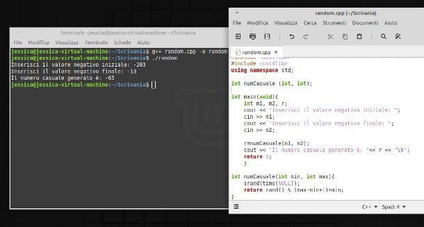 Come generare numeri casuali negativi in C++