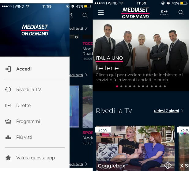video silverlight dal sito mediaset
