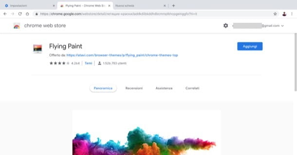 Impostare sfondo nero google