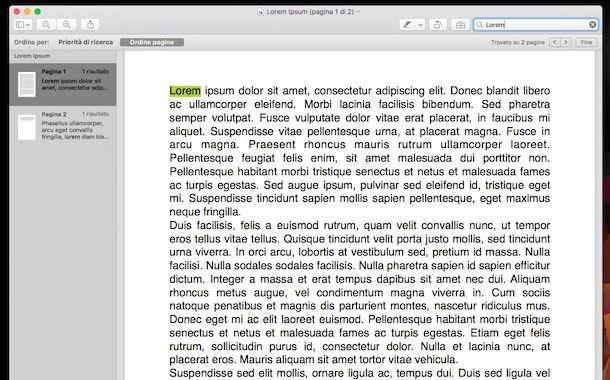 Come cercare una parola in una pagina