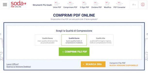 Come zippare un PDF