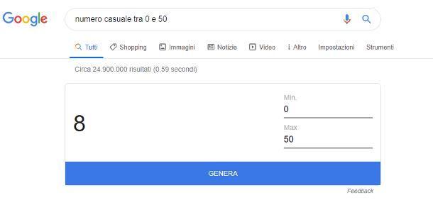 Come generare numeri casuali online