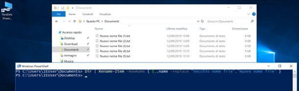 Rinominare file con PowerShell