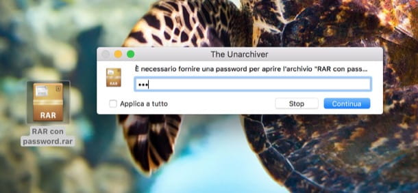 Come estrarre file RAR con password