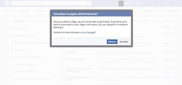 Come chiudere una pagina Facebook