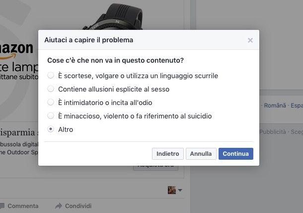 Come contattare Facebook