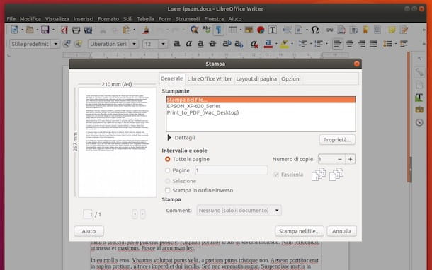 Come salvare un documento in PDF