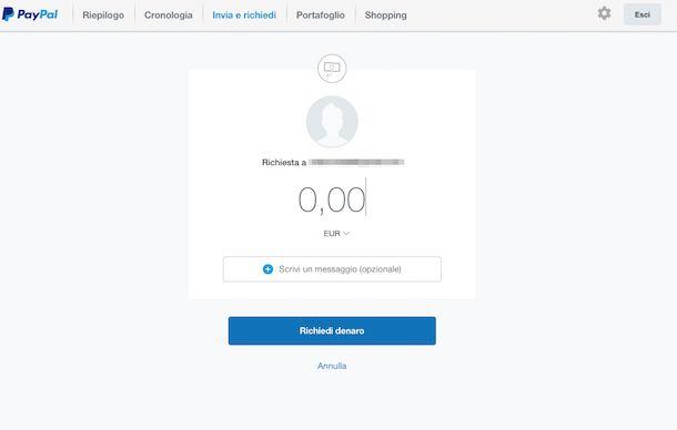 Come ricevere un pagamento con PayPal