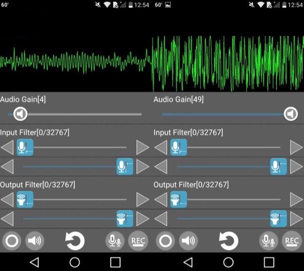 Alzare il microfono su Android