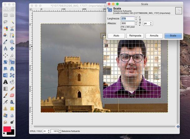 Strumento scala GIMP