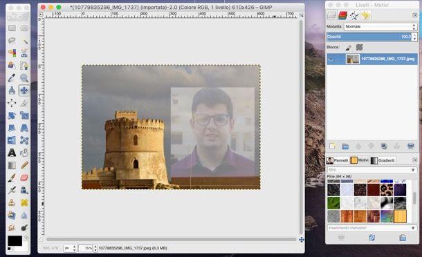 Sfumare due foto con GIMP