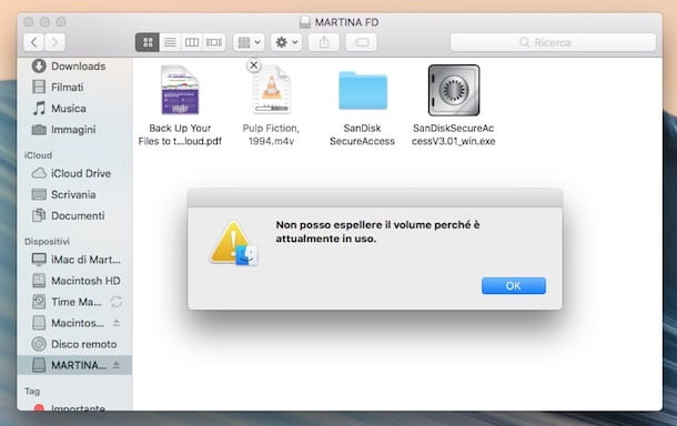 Come espellere USB da Mac
