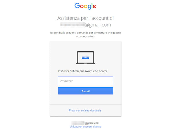 Come cambiare password Gmail