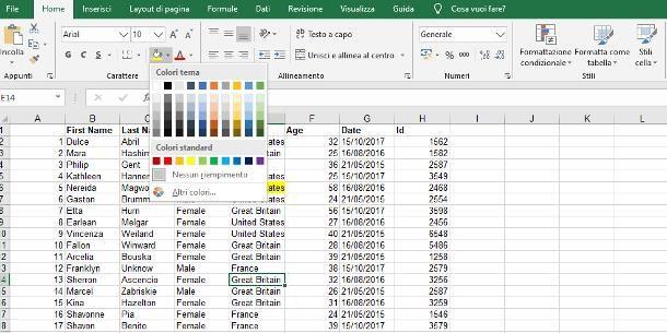 Come evidenziare celle Excel