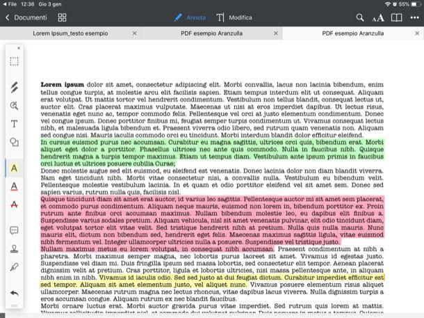 Altre app per evidenziare PDF su iPad