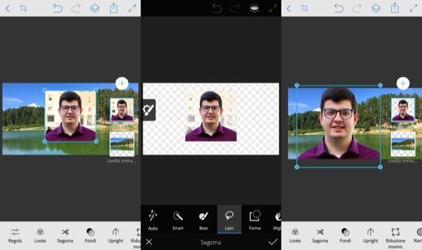 Fondere due immagini con Photoshop su mobile