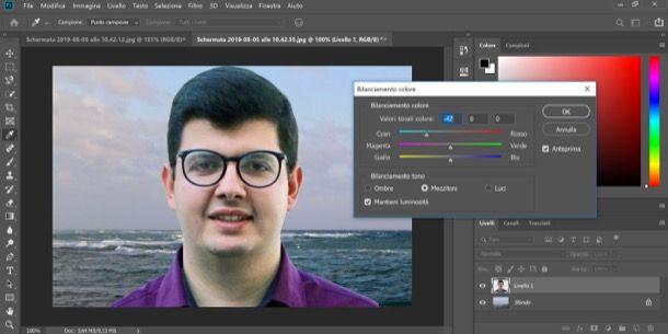 Sovrapporre due immagini su Photoshop