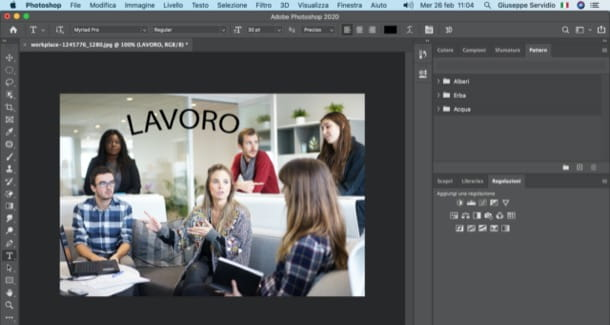 Curvare scritta con Photoshop su PC