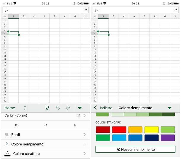 Come evidenziare le celle su Excel