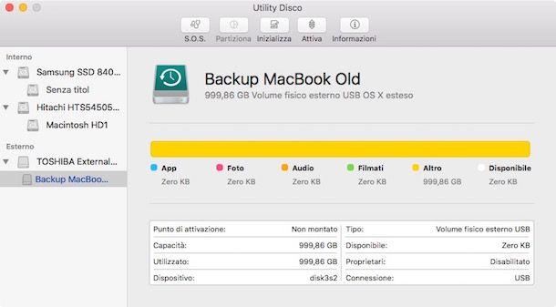 Come rilevare hard disk esterno