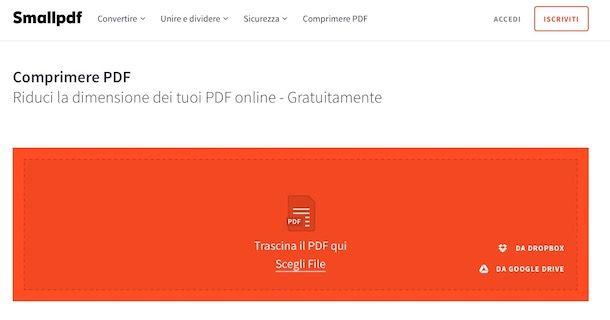 Come rimpicciolire un file PDF