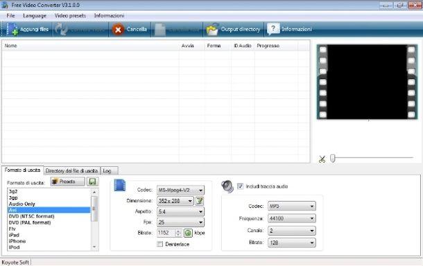 Programmi per comprimere video