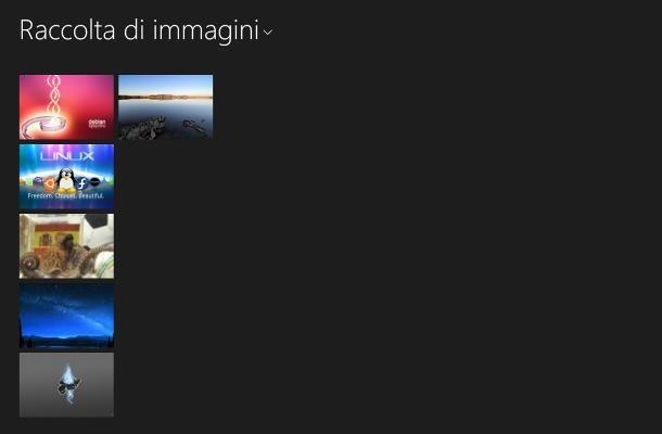 Come scorrere foto su Windows 8