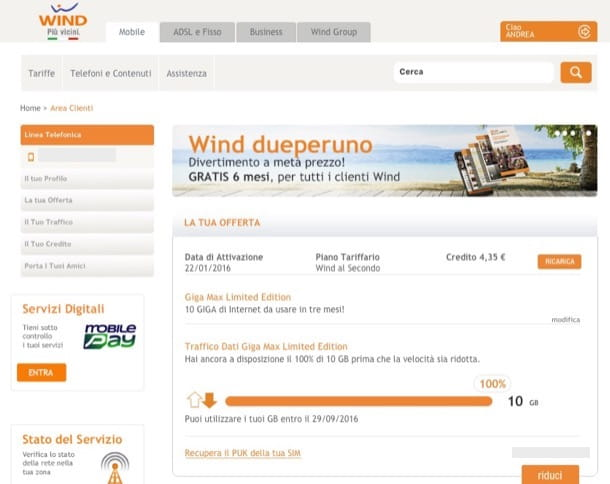 Come verificare traffico Internet Wind