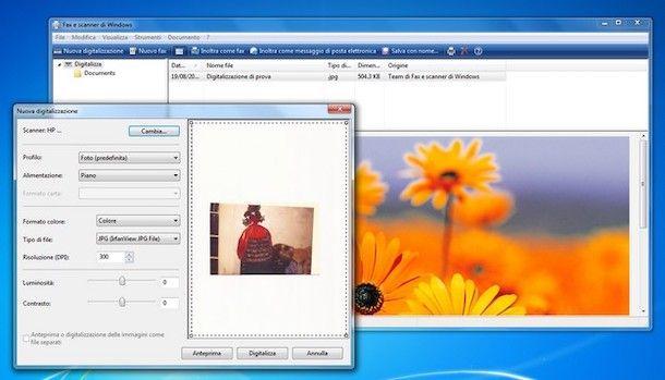 Fax e scanner Windows