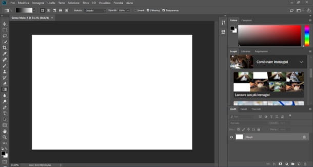 Interfaccia di Photoshop
