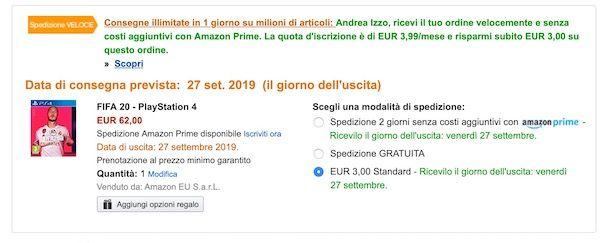 Spedizione Amazon