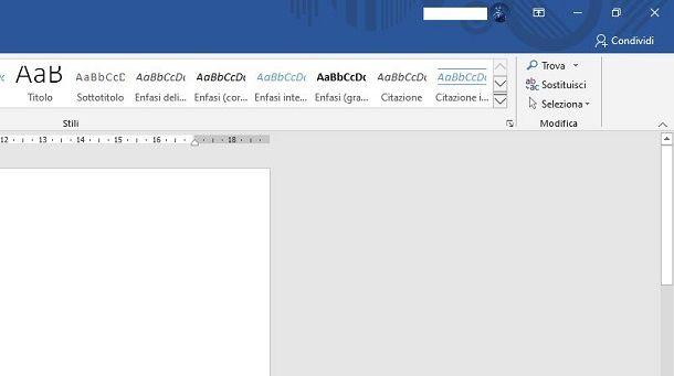 Minimizzare barra multifunzione Office 2019