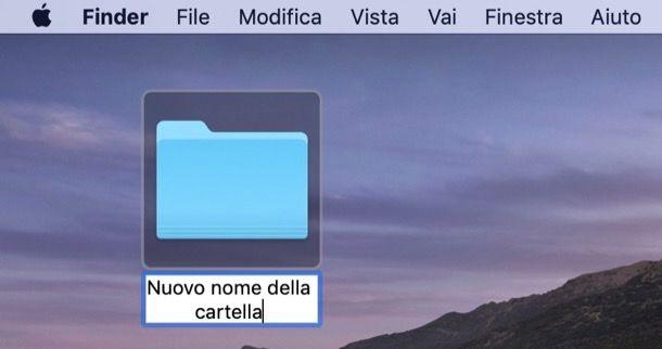 Rinominare cartella su Mac