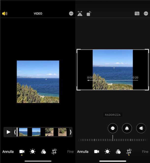 Ruotare un video su iPhone con l'app Foto