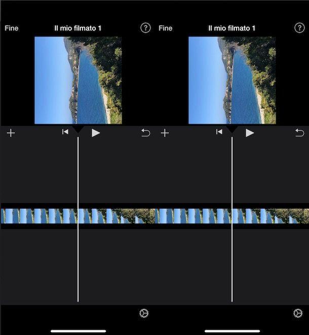 Come ruotare un video con iMovie iPhone