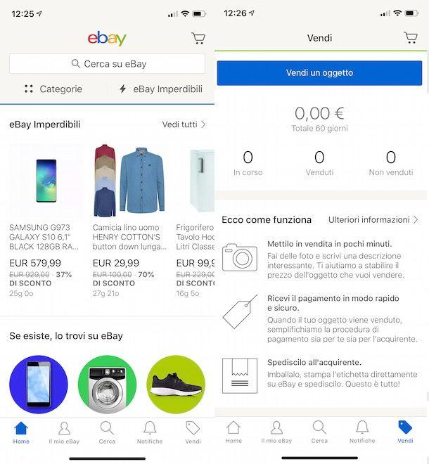 Mettere un annuncio su eBay da smartphone e tablet