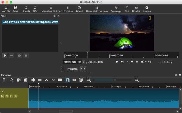 Programmi per editing video Mac