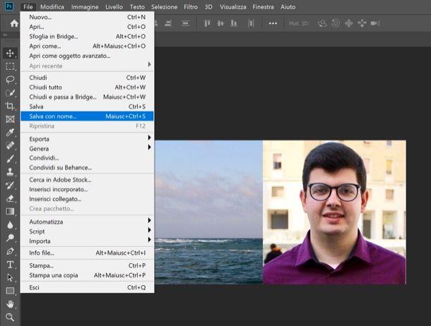 Salvare foto modificata con Photoshop