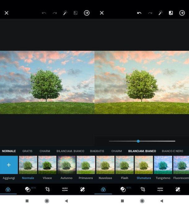 Bilanciamento del bianco con Photoshop su smartphone e tablet